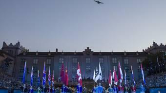 Der Überflug der Ju 52 bei einer Probe für das Basel Tattoo 2014