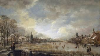 Keine Aufregung, keine Ereignisse: So hat der niederländische Maler Aert van der Neer 1663 den damaligen Winter festgehalten.Kunstmuseum basel