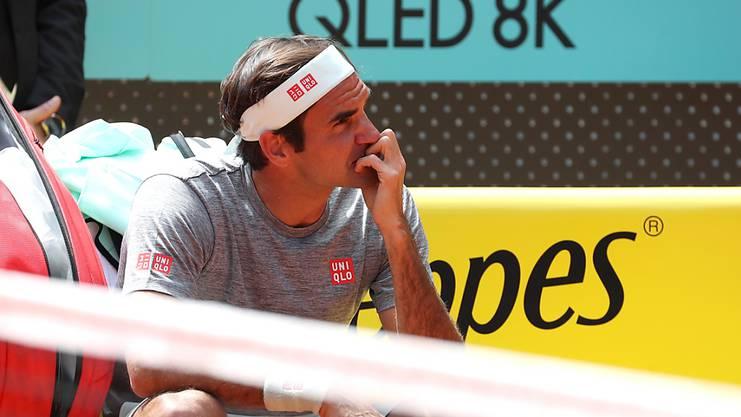 Bereits seit Freitag trainiert Federer in Madrid.