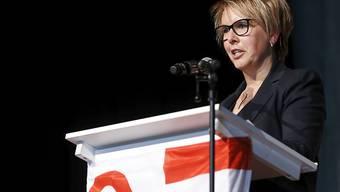 Die jurassische Regierungspräsidentin Nathalie Barthoulot warb am Samstag für die Zugehörigkeit der Gemeinde Moutier zum Kanton Jura.