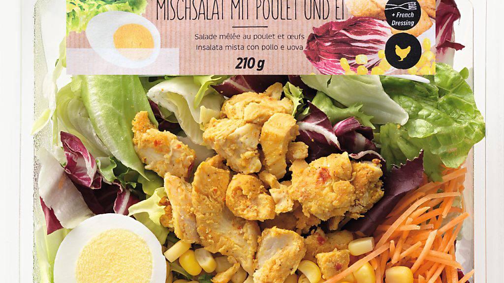 Listerien im Denner Mmmh-Mischsalat mit Poulet und Ei