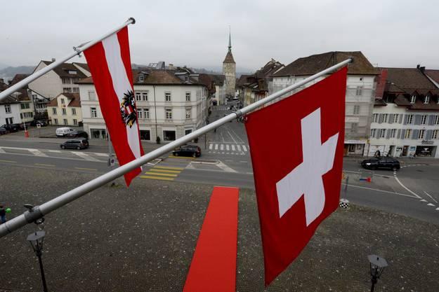 Die Schweiz begrüsst in Aarau Österreich