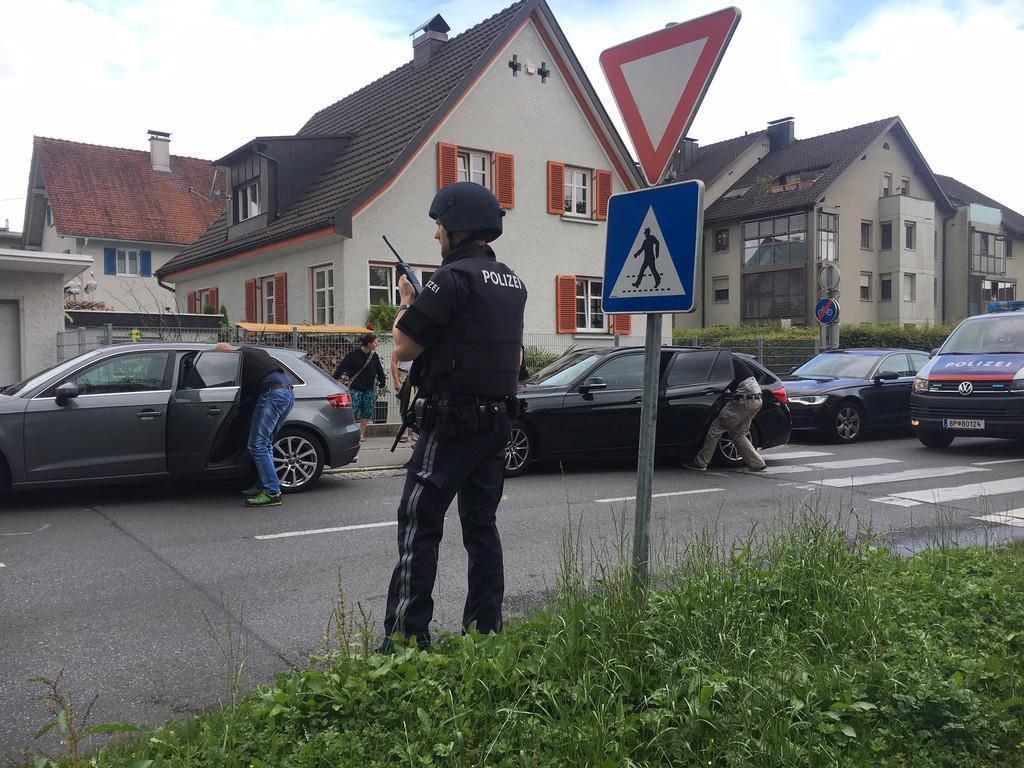 Grosseinsatz in Bregenz (© Pascal Pletsch/vol.at)