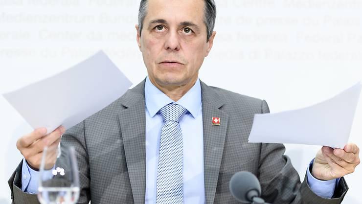 Aussenminister Ignazio Cassis: Unzufrieden mit dem Vertrag.
