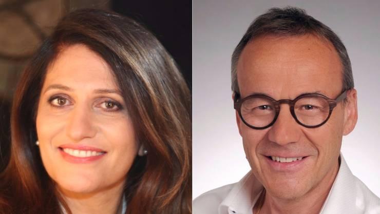 Links: Giovanna Miceli, SP: «Wichtig ist Sachpolitik». Rechts: Fabian Keller, CVP: «Bin auch ein wenig ein Grüner»