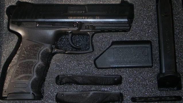 Die P30 von Heckler & Koch, eine beliebte Polizeiwaffe in der Schweiz.