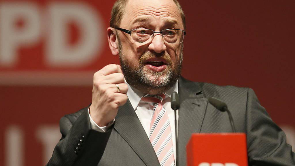 Nach seiner Nomination als Parteichef und Spitzenkandidat geht es mit der deutschen SPD laut Umfragen aufwärts: Martin Schulz, ehemaliger Präsident des EU-Parlaments. (Archivbild)