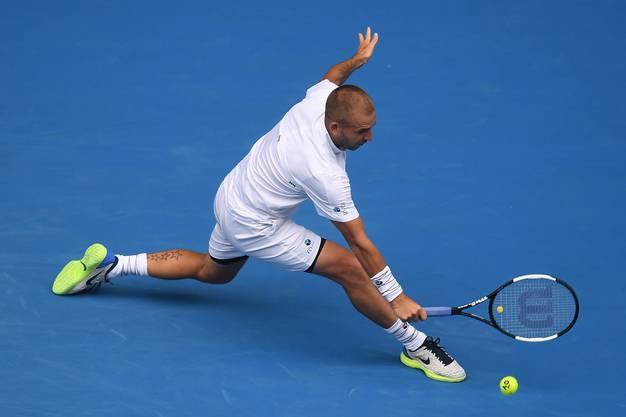 Die besten Bilder von der Partie Federer vs. Evans.