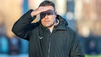 Wohin führt der Weg des FC Aarau und seines Trainers Patrick Rahmen? Freshfocus