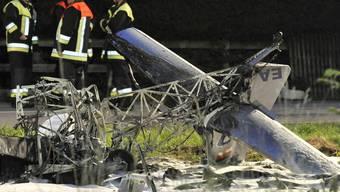 Flugzeugzusammenstoss in Bayern.