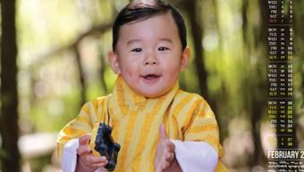 Das auf einer Website des Königshauses veröffentlichte Kalenderblatt mit Kronprinz Jigme Namgyel Wangchuck.