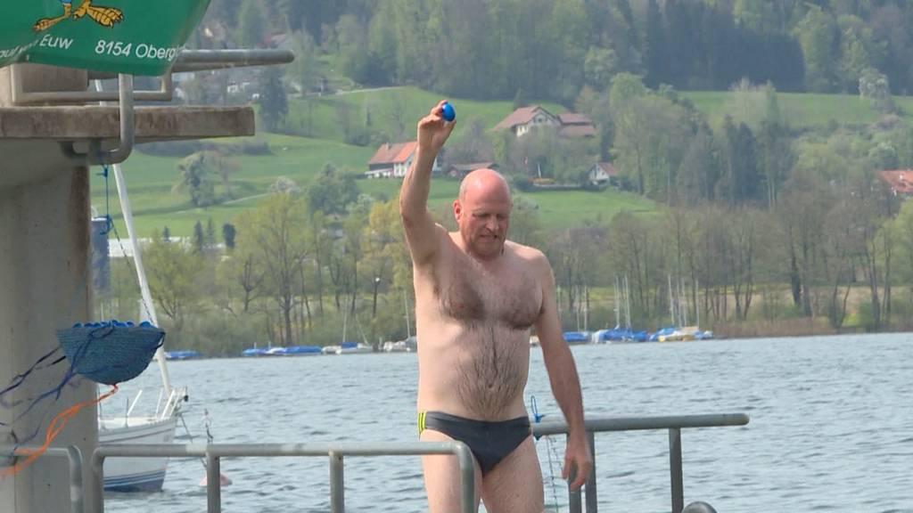Teilnehmerrekord am Blaueier-Schwimmen