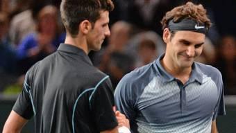 Duell der Superstars: Novak Djokovic und Roger Federer.