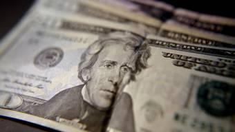 Ein 20-Dollar-Schein der Vereinigten Staaten.