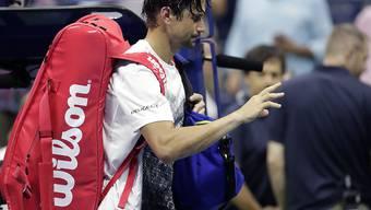 David Ferrer verlässt verletzt den Centre Court nach seinem letzten Grand-Slam-Spiel der Karriere