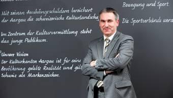 Will Ruhe in die Aargauer Schullandschaft bringen: Bildungsdirektor Alex Hürzeler. Emanuel Freudiger