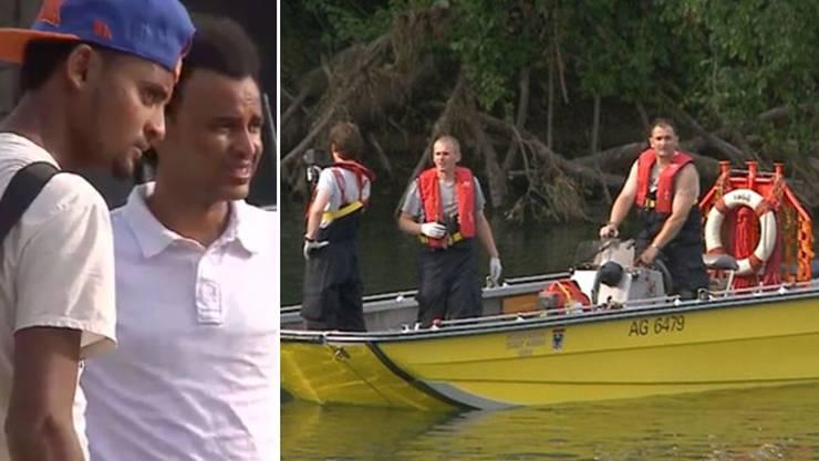 Badeunfall am Samstag in Aarau: Ein 25-jähriger Asylbewerber ging bei der Kraftwerks-Insel ins Wasser und wurde mitgerissen. Von ihm fehlt jede Spur. Die Mitbewohner des Opfers sind schockiert.