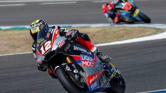 Der Berner Moto2-Fahrer Tom Lüthi im Training zum Grand Prix von Andalusien in Jerez de la Frontera