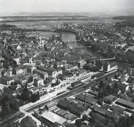 So sah das Gebiet rund um den Westbahnhof 1956 aus.