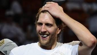 Dirk Nowitzki nach dem NBA-Sieg