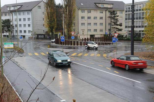 Kreisel Grabenring/Baslerstrasse in Allschwil