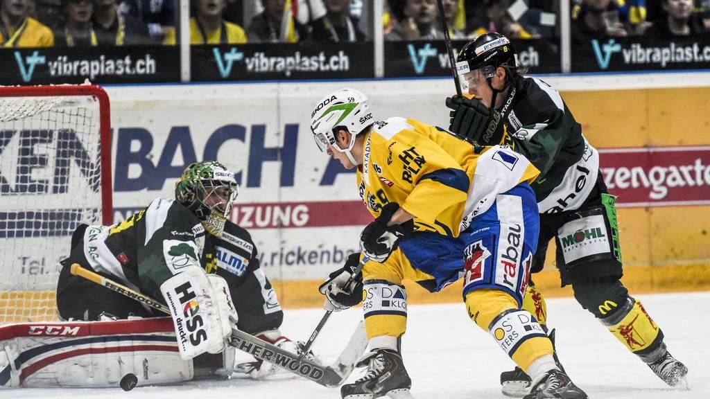 Hockey Thurgau (in Schwarz) und Davos (in Gelb), hier beim Cup des Jahres 2014 in Weinfelden, wollen nicht weiter zusammenarbeiten. (Archiv)