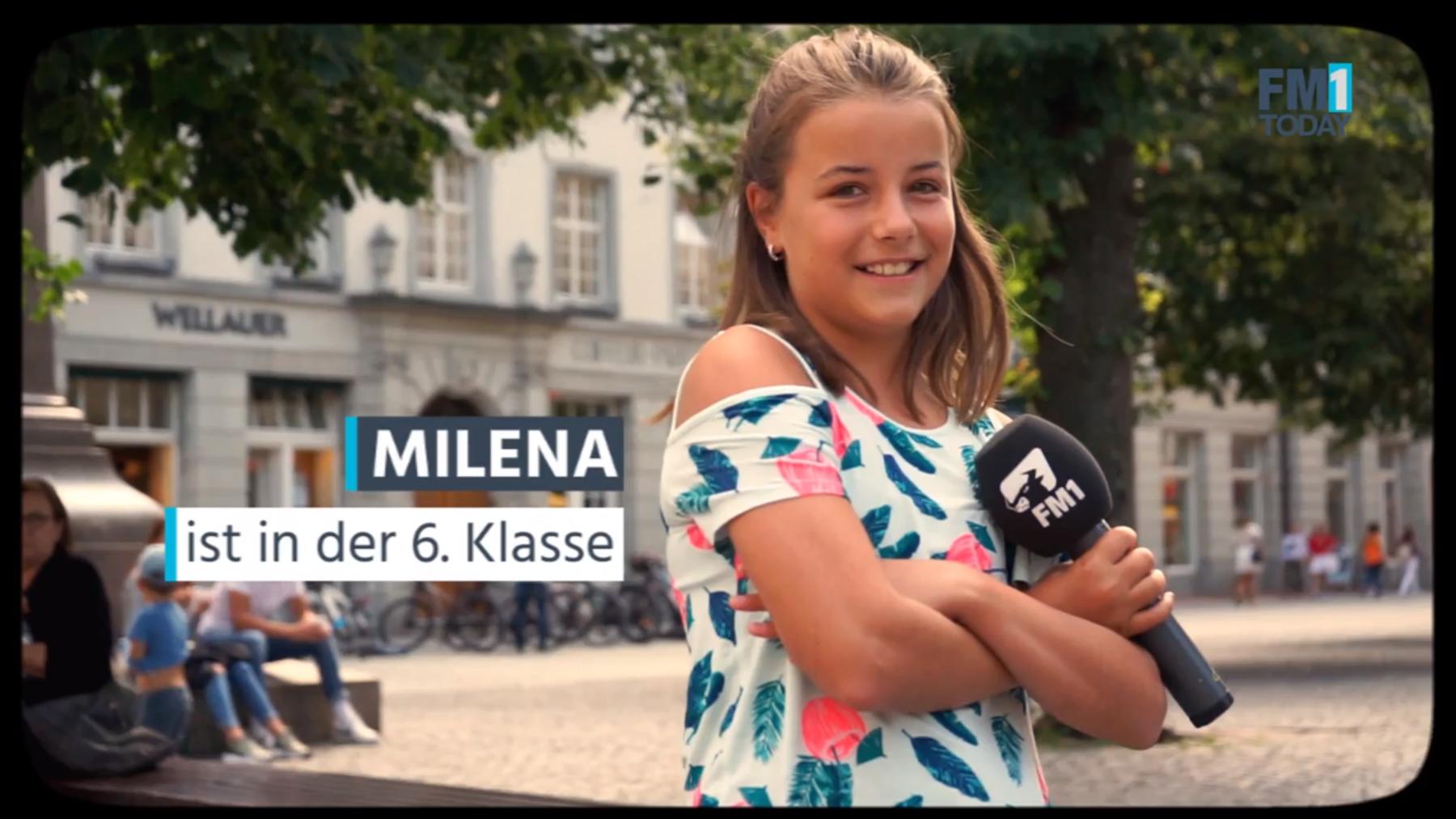 Milena hat den Erwachsenen knifflige Fragen aus der 6. Klasse gestellt.