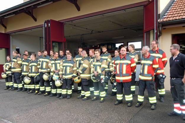Feuerwehr Lohn-Ammannsegg beim Appell