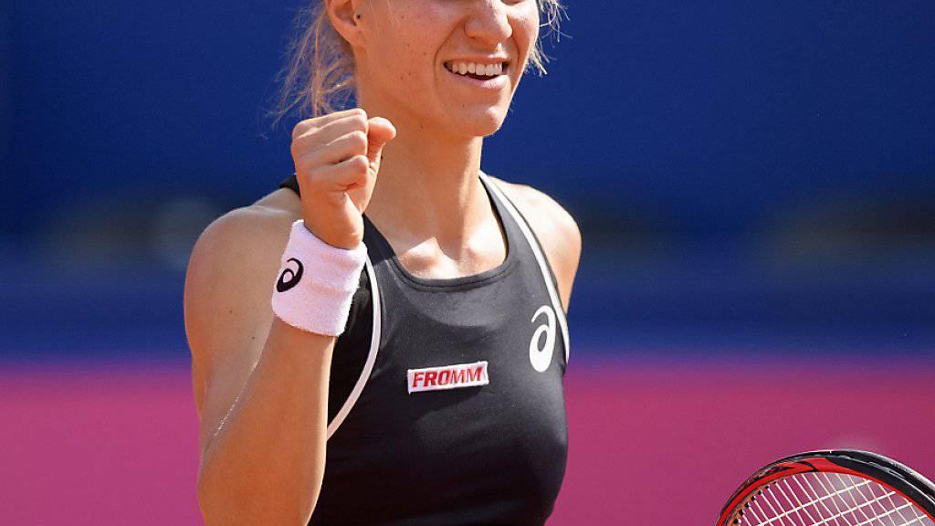 Wieder einmal Grund zum Jubeln: Viktorija Golubic gewinnt in der Startrunde von Hua Hin (Archivbild)