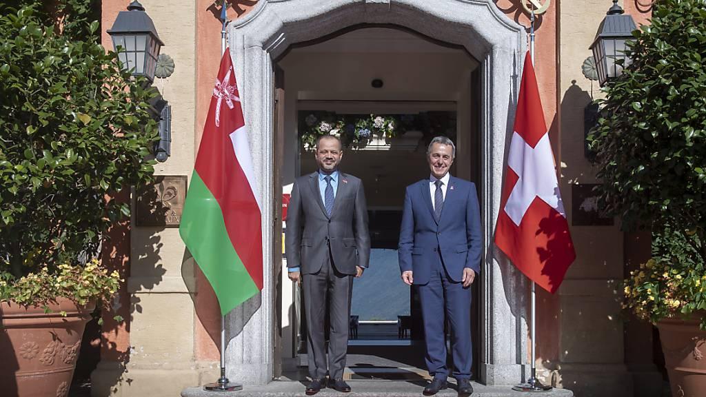 Bundesrat Cassis führt Gespräche mit Aussenminister des Oman