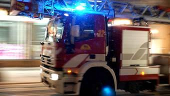 Die Feuerwehr evakuierte mehrere Hausbewohner mit einer Drehleiter. (Symbolbild)