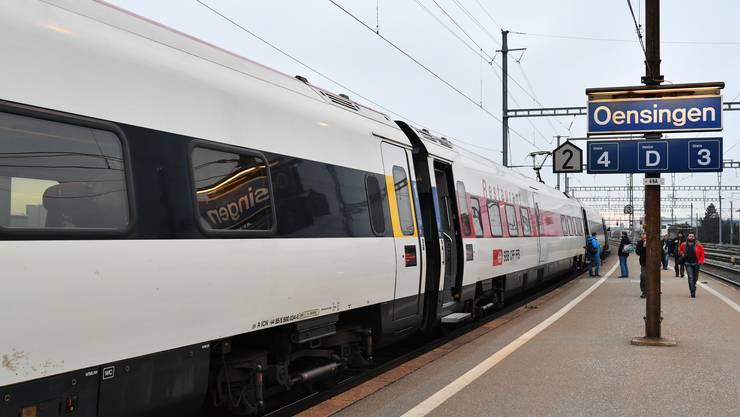 Oensingen steht als Intercity-Halt auf der Kippe.