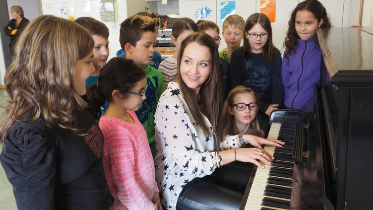 Die Sängerin stimmt Alicia Keys «Empire State of Mind» an: «Ich möchte die Kinder dazu ermutigen, selbst Musik zu machen.»