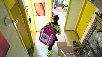 Heiss herbeigesehnt – Ambulanzteam im Notfalleinsatz.
