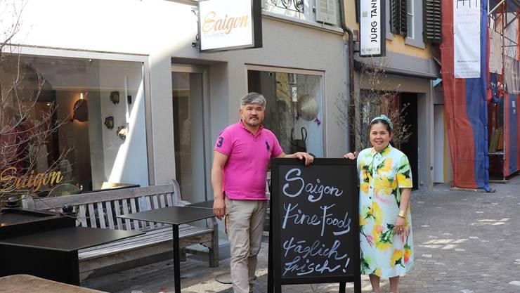 Seit Anfang April kocht Ngo Long mit seiner Schwester Minh Chau vietnamesische Gerichte in der Rathausgasse.