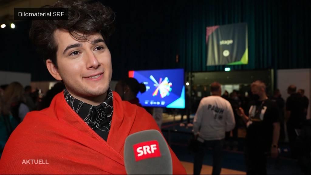 Schweiz auf Platz drei: Gjon's Tears sorgt am Eurovision Song Contest für Freudentränen