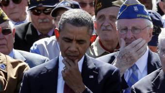 US Präsident Barack Obama unter Veteranen in Colleville-sur-Mer