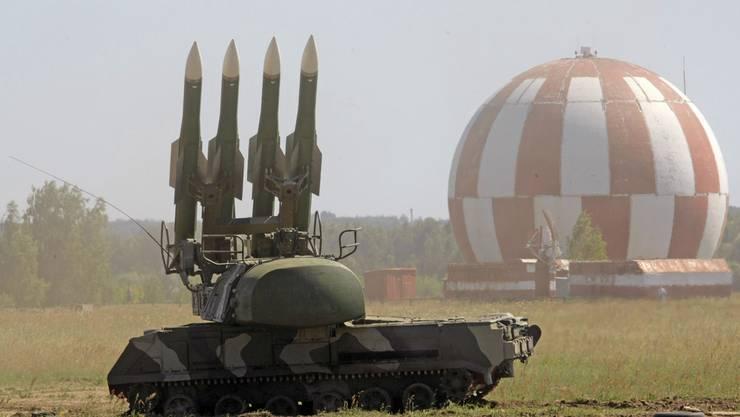 Zum Vergleich: Das BUK-M1 Waffensystem der russischen Armee, wie es auch die ukrainische Armee besitzt.