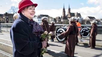 Basler Fasnacht 2019: Cortège Mittwoch Fasnachts-Comité Obfrau Pia Inderbitzin