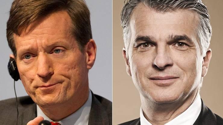 Credit-Suisse-Chef Brady Dougan und UBS-Boss Sergio Ermotti.