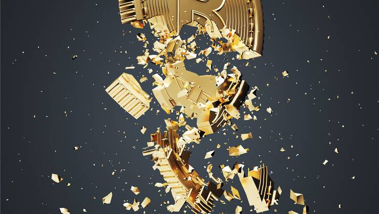 Bitcoin implodiert.Thinkstock