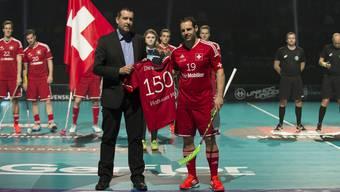 Captain Matthias Hofbauer bestreitet sein 150. Länderspiel an der WM 2014 in Goetheburg
