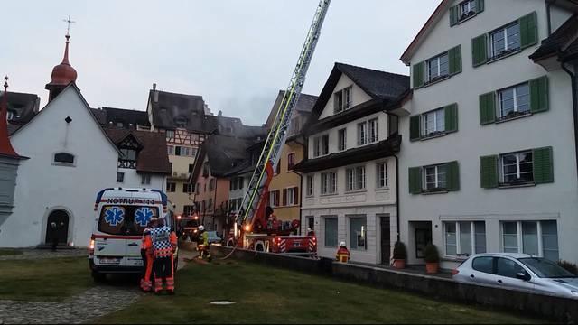 Brand in Bremgarter Altstadt