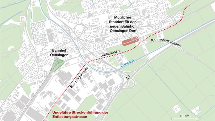 Frühestens ab 2025 könnte die Umfahrung der grössten Gäuer Gemeinde realisiert sein.