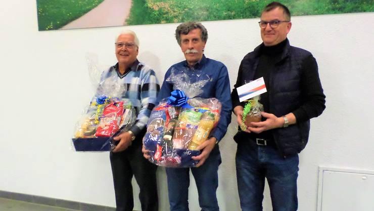 Von links: Hans Gloor, Hans-Peter Maurer, Toni Küng