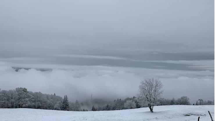 Immer etwas Besonderes – und gar etwas märchenhaft: der erste Schnee der Saison auf dem Weissenstein am 8. November 2019.