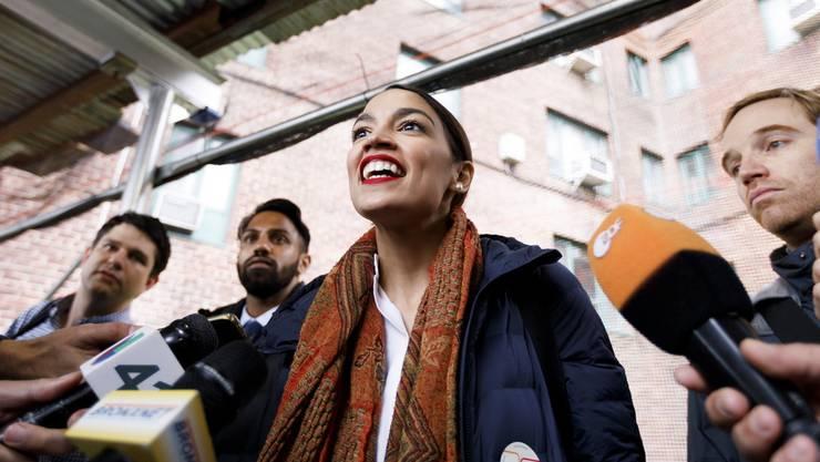 Alexandria Ocasio-Cortez - mit 29 die jüngste im Kongress.