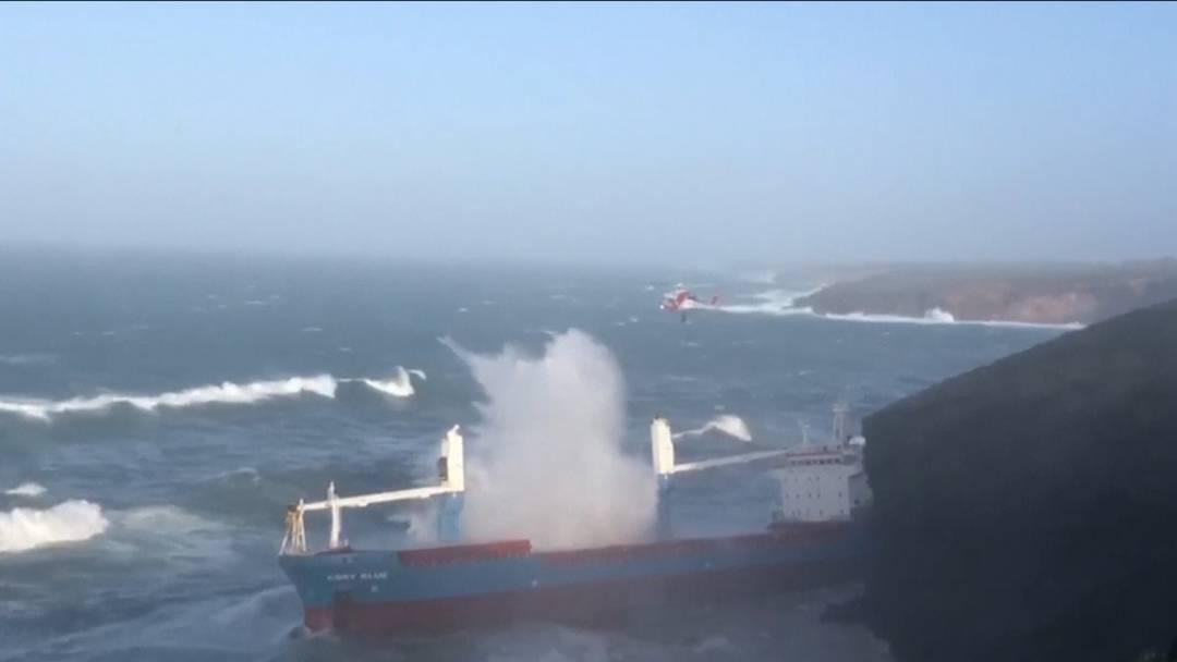 Unwetter, Sturm und eine knifflige Rettungsaktion