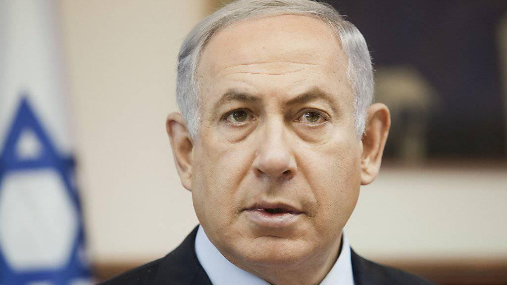 Israels Regierungschef Netanjahu soll am Montag ebenfalls über die Einigung informieren