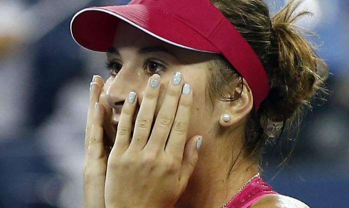 Die Schweizerin kann ihren Sieg kaum glauben.